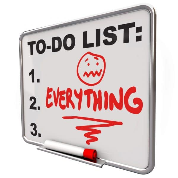 too busy small business owner to do list