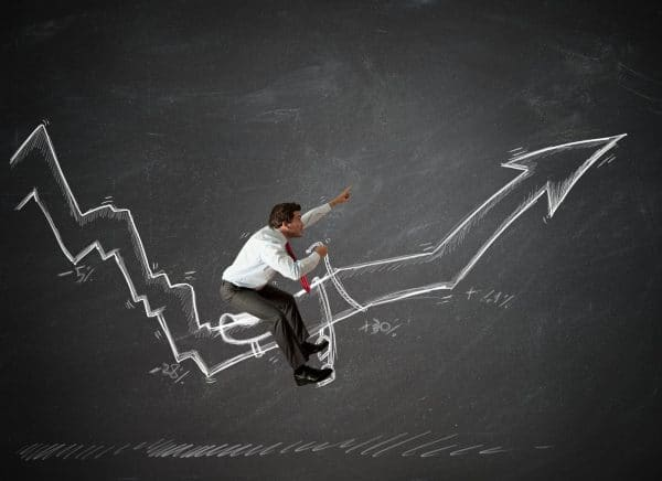 small business owner riding the ups and downs of business